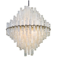 Corbett Lighting Manhatten LED Pendant - 34 inch - Satin Silver Leaf Finish with Clear and Frosted Glass Tubes 219-72