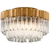Charisma 18 inch Gold Leaf Semi-Flush Mount Ceiling Light