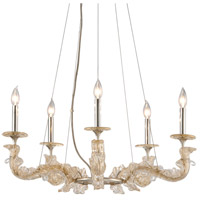 Cielo 29 inch Silver Leaf Chandelier Ceiling Light