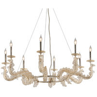 Cielo 46 inch Silver Leaf Chandelier Ceiling Light