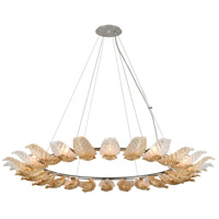 Anello 12 Light 56 inch Gold Leaf with Polished Stainless Accents Pendant Ceiling Light