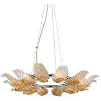 Anello 6 Light 36 inch Gold Leaf with Polished Stainless Accents Pendant Ceiling Light