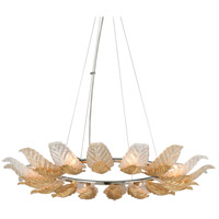 Anello 8 Light 43 inch Gold Leaf with Polished Stainless Accents Pendant Ceiling Light