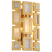 Motif 1 Light 9 inch Gold Leaf with Polished Stainless Accents ADA Wall Sconce Wall Light