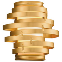 Vertigo LED 10 inch Gold Leaf with Polished Stainless Accents Wall Sconce Wall Light