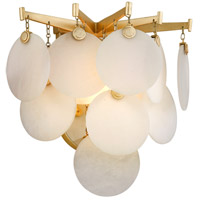 Serenity LED 12 inch Gold Leaf Wall Sconce Wall Light