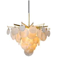 Serenity LED 28 inch Gold Leaf Chandelier Ceiling Light