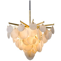 Serenity LED 34 inch Gold Leaf Chandelier Ceiling Light