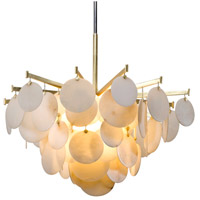 Serenity LED 40 inch Gold Leaf Chandelier Ceiling Light