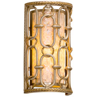 Sweet Talk 7 inch Silver Leaf With Gold Leaf Accents Wall Sconce Wall Light