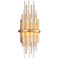 Theory LED 7 inch Gold Leaf with Polished Stainless Wall Sconce Wall Light