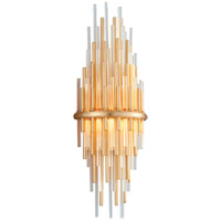 Corbett Lighting 238-12 Theory LED 8 inch Gold Leaf with Polished Stainless Wall Sconce Wall Light