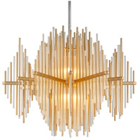 Theory LED 40 inch Gold Leaf with Polished Stainless Pendant Ceiling Light