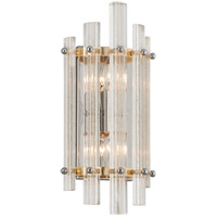 Sauterne 2 Light 8 inch Gold Leaf with Polished Stainless ADA Wall Sconce Wall Light