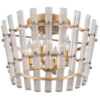Corbett Lighting 239-34 Sauterne 4 Light 19 inch Gold Leaf with Polished Stainless Semi-Flush Mount Ceiling Light