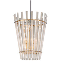 Sauterne 6 Light 21 inch Gold Leaf with Polished Stainless Pendant Ceiling Light