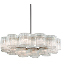 Circo 12 Light 46 inch Satin Silver Leaf Pendant Ceiling Light