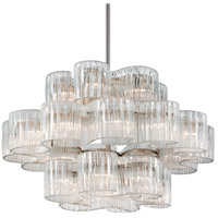 Circo 24 Light 46 inch Satin Silver Leaf Pendant Ceiling Light