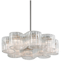 Circo 8 Light 32 inch Satin Silver Leaf Pendant Ceiling Light