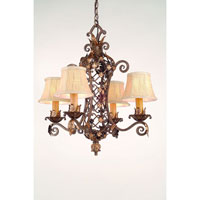 Corbett Del Mar 4 Light Chandelier In Palace Bronze 24-04 photo thumbnail