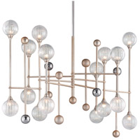 Corbett Lighting 241-016 Majorette LED 50 inch Silver Leaf with Polished Chrome Pendant Ceiling Light