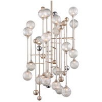 Corbett Lighting 241-024 Majorette LED 36 inch Silver Leaf with Polished Chrome Pendant Ceiling Light