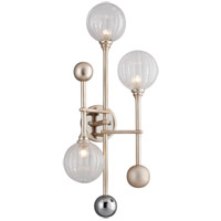 Corbett Lighting 241-13 Majorette LED 13 inch Silver Leaf with Polished Chrome Wall Sconce Wall Light