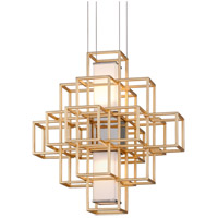 Corbett Lighting 242-41 Metropolis LED 20 inch Gold Leaf Pendant Ceiling Light