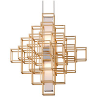 Corbett Lighting 242-42 Metropolis LED 28 inch Gold Leaf Pendant Ceiling Light