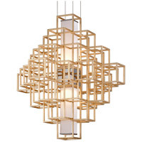 Metropolis LED 36 inch Gold Leaf Pendant Ceiling Light