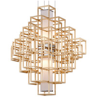 Corbett Lighting 242-44 Metropolis LED 45 inch Gold Leaf Pendant Ceiling Light