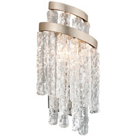 Mont Blanc 2 Light 8 inch Modern Silver Leaf Wall Sconce Wall Light