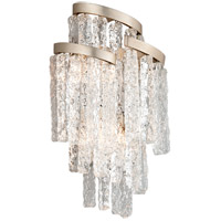 Mont Blanc 3 Light 11 inch Modern Silver Leaf Wall Sconce Wall Light
