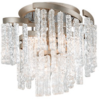 Mont Blanc 5 Light 18 inch Modern Silver Leaf Semi-Flush Mount Ceiling Light