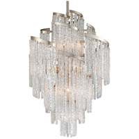 Mont Blanc 13 Light 36 inch Modern Silver Leaf Chandelier Ceiling Light