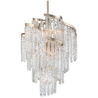 Mont Blanc 9 Light 25 inch Modern Silver Leaf Chandelier Ceiling Light