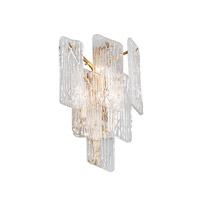 Piemonte 3 Light 12 inch Royal Gold Wall Sconce Wall Light
