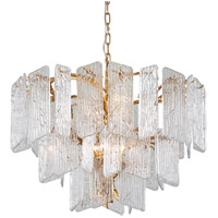 Piemonte 8 Light 32 inch Royal Gold Chandelier Ceiling Light
