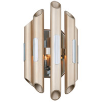Arpeggio LED 8 inch Antique Silver Leaf with Polished Stainless Wall Sconce Wall Light