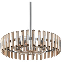 Arpeggio LED 36 inch Antique Silver Leaf with Polished Stainless Pendant Ceiling Light