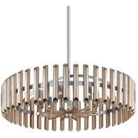 Arpeggio LED 44 inch Antique Silver Leaf with Polished Stainless Pendant Ceiling Light