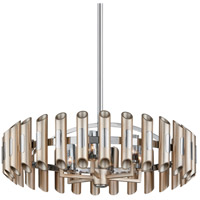 Arpeggio LED 28 inch Antique Silver Leaf with Polished Stainless Pendant Ceiling Light