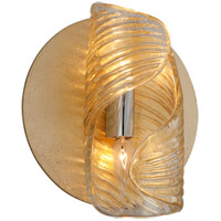 Flaunt 2 Light 10 inch Gold Leaf with Polished Stainless Wall Sconce Wall Light