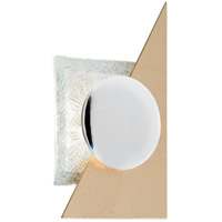 Corbett Lighting 248-11 Spinnaker LED 9 inch Gold Leaf with Polished Stainless ADA Wall Sconce Wall Light