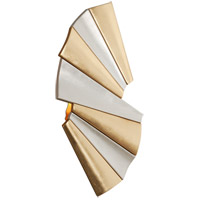Taffeta LED 8 inch Gold Leaf and Modern Silver Leaf ADA Wall Sconce Wall Light