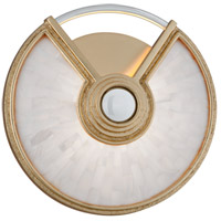 Venturi LED 10 inch Gold Leaf with Polished Stainless ADA Wall Sconce Wall Light