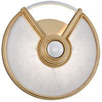 Venturi LED 14 inch Gold Leaf with Polished Stainless Wall Sconce Wall Light