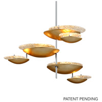 Corbett Lighting 255-46 Libra LED 30 inch Silver Leaf Pendant Ceiling Light
