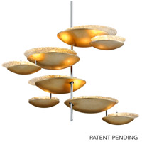 Corbett Lighting 255-78 Libra LED 46 inch Silver Leaf Pendant Ceiling Light