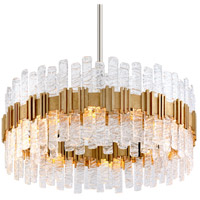 Ciro 10 Light 36 inch Silver Leaf Pendant Ceiling Light